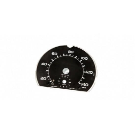 Speed scale 140 km/h